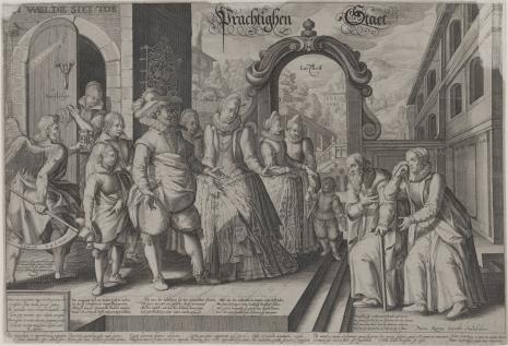 Pieter van den  Keere, Alegoria dobrej śmierci