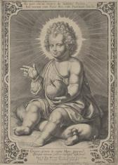 Dzieciątko Jezus siedzące na poduszce
