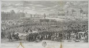 Przejazd króla Ludwika XIV z orszakiem przez Paryż