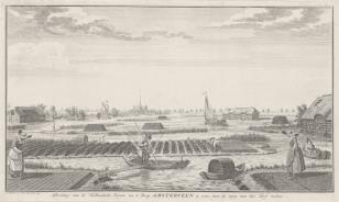 Widok miejscowości w Amsterveen w Holandii