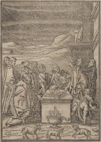 Christoph Młodszy Sichem, Ofiara złożona przez Izraelitów przed opuszczeniem Egiptu
