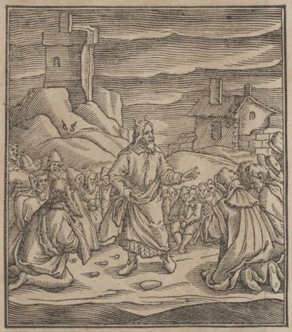 Christoph Młodszy Sichem, Mojżesz napomina Izraelitów