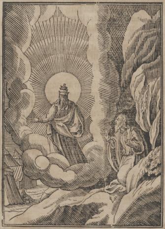 Christoph Młodszy Sichem, Bóg zabrania Mojżeszowi spojrzeć w swe oblicze
