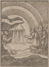 Bóg ukazuje się Izraelitom w gęstym obłoku