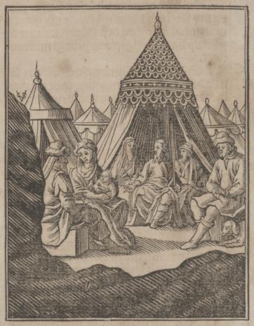 Christoph Młodszy Sichem, Mojżesz gości Jetro i jego rodzinę