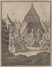Mojżesz gości Jetro i jego rodzinę