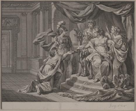Friedrich Christian Gottlieb Geyser, Scena z historii Kleopatry