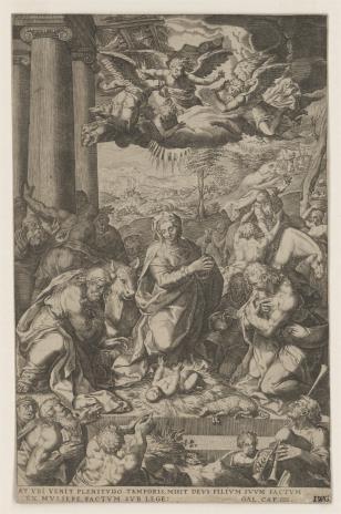 Egidius [Gilles] Sadeler, Pokłon Pasterzy