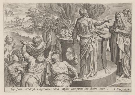Claes Jansz Visscher, Jeroboam strofowany przez proroka za bałwochwalstwo