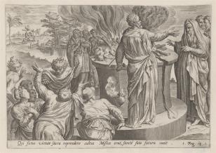 Jeroboam strofowany przez proroka za bałwochwalstwo