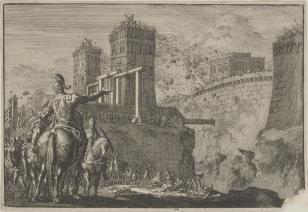 Burzenie miast izraelskich przez króla Badada [prawdopodobnie]