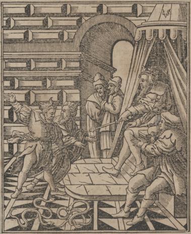 Christoph Młodszy Sichem, Aron i Mojżesz przed faraonem