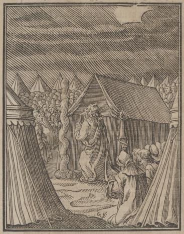 Christoph Młodszy Sichem, Słup obłokowy staje przed namiotem Mojżesza