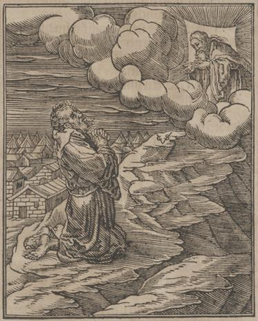 Christoph Młodszy Sichem, Mojżesz na górze Synai