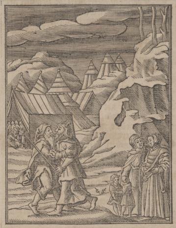 Christoph Młodszy Sichem, Jetro przybywa do Mojżesza
