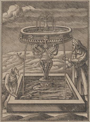 Christoph Młodszy Sichem, Sadzawka u wejścia do świątyni Mojżeszowej