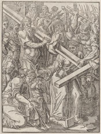 Christoph Młodszy Sichem, 1. Niesienie krzyża  2. Chrystus na krzyżu