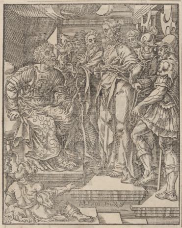 Christoph Młodszy Sichem, 1. Chrystus przed Annaszem 2. Chrystus przed Kaifaszem