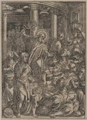 Chrystus wypędza przekupniów ze świątyni