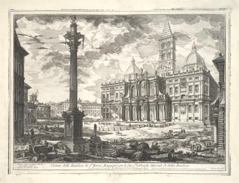 Giambattista Piranesi, Bazylika Santa Maria Maggiore w Rzymie