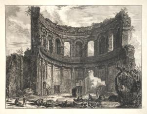 Ruiny świątyni Apollina w Tivoli