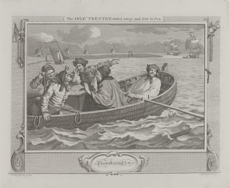 Ernst Ludwig Riepenhausen, Leniwy uczeń wyrusza na morze