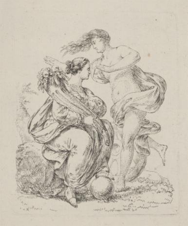 Josef młodszy Bergler, Dwie postacie alegoryczne, z których jedna trzyma róg obfitości