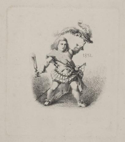 nieznany, Bilet noworoczny 1852