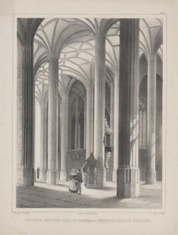 C. W.  Arldt, Wnętrze kościoła św. Piotra w Zgorzelcu