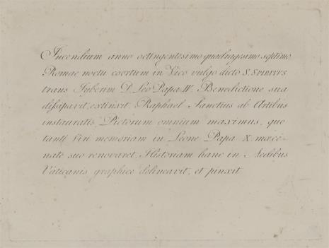 Giovanni Volpato, Karta objaśniająca do serii rycin-szkiców G. Volpato