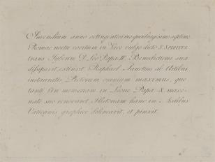 Karta objaśniająca do serii rycin-szkiców G. Volpato