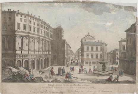 nieznany, Widok Teatru Marcelusa w Rzymie