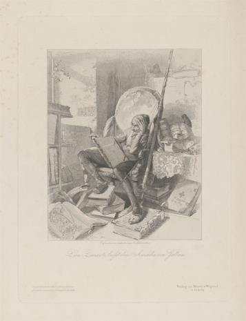 Adolf Schrödter, Don Kichote czytający