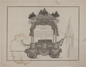 Wóz żałobny z uroczystości pogrzebowych admirała H. Nelsona