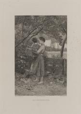 Dziewczyna z dzieckiem na ręku