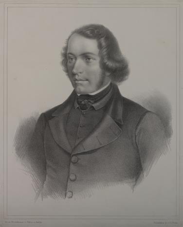 Franz Hoffmann-Fallersleben, Portret młodego mężczyzny