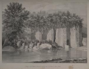 Widok murów rzymskich w Vienne