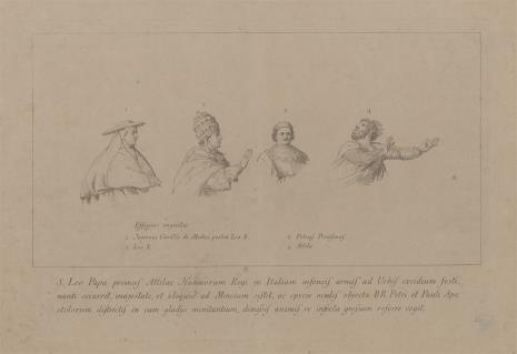 Giovanni Volpato, Szkice czterech postaci do ryciny przedstawiajacej