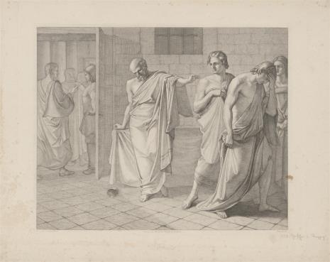 Oswald Wilhelm Ufer, Śmierć Sokratesa