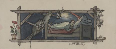 Eduard Unger, Dwie myszy skradające się nocą do komory
