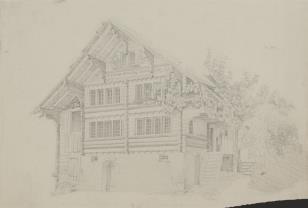 Wiejski dom drewniany