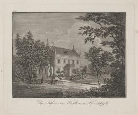 Widok rezydencji książęcej w Kirchofe
