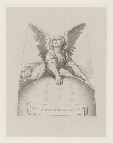 Adolf Schrödter, Anioł wsparty na kuli firmamentu