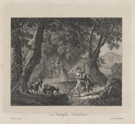Louis Albert Guillain Bacler d'Albe, Nimfa ścigana przez Satyra