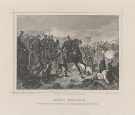 T. Bauer, Cesarz Wilhelm I w czasie bitwy pod Königgrätz