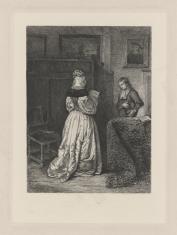 Dama czytająca list przyniesiony przez posłańca
