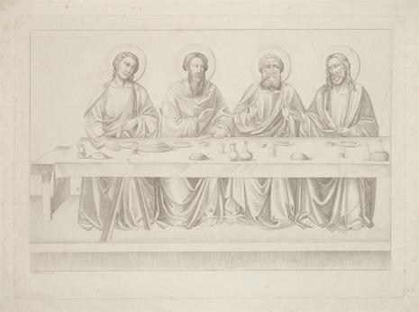 Johann Anton Albert Ramboux, Ostatnia Wieczerza fragment kompozycji z czterema postaciami Apostołów