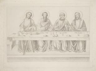 Ostatnia Wieczerza fragment kompozycji z czterema postaciami Apostołów