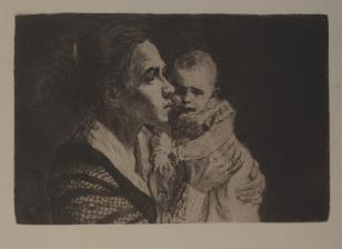 Kobieta trzymająca dziecko na ręku