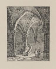 Wnętrze krypty gotyckiej